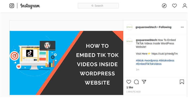 how to embed instagram photo on wordpress